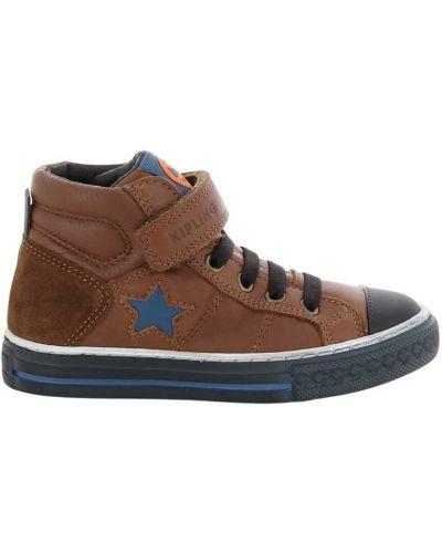 Brązowe sneakersy Kipling