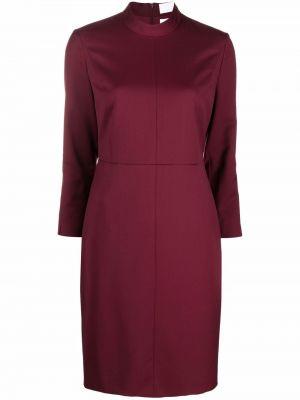Платье миди с длинными рукавами - красное Boss Hugo Boss