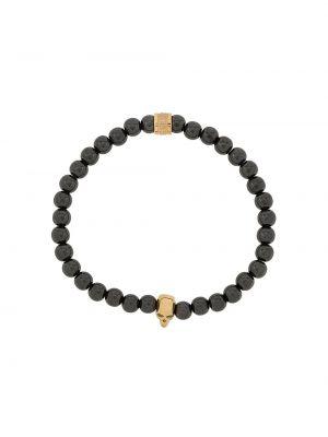 Черный браслет с подвесками позолоченный Northskull