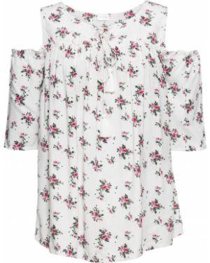 Блузка с открытыми плечами боди с коротким рукавом Bonprix