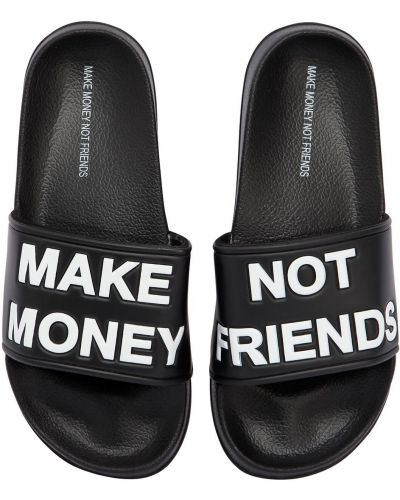 Шлепанцы Make Money Not Friends