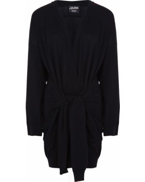 С рукавами шерстяной черный вязаный кардиган с карманами Jean Paul Gaultier