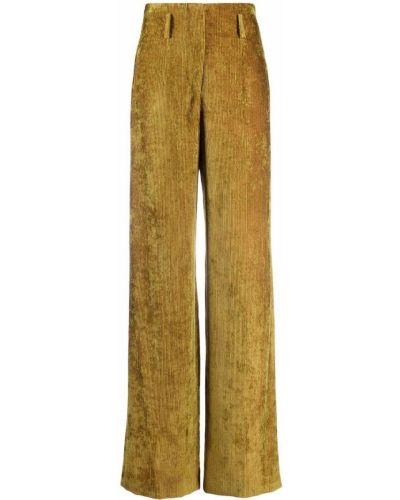 Зеленые брюки вельветовые Alberta Ferretti