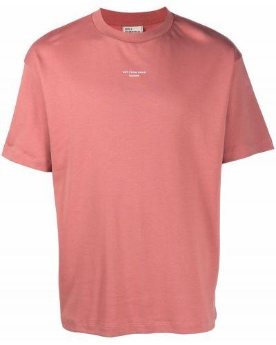 Różowa koszulka bawełniana Drole De Monsieur