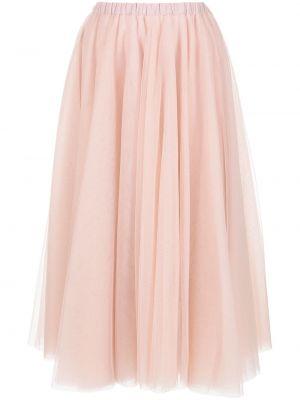 Юбка миди из фатина - розовая Cynthia Rowley