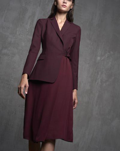 Вечернее платье бордовый платье-пиджак Vassa&co