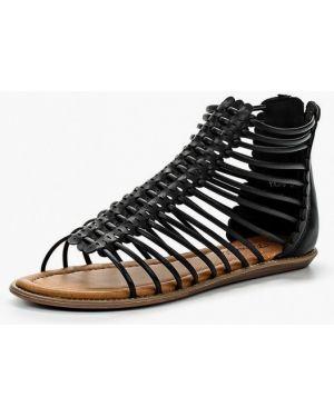 Черные кожаные сандалии Fersini