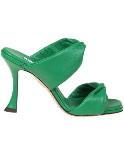 Zielone sandały Aquazzura