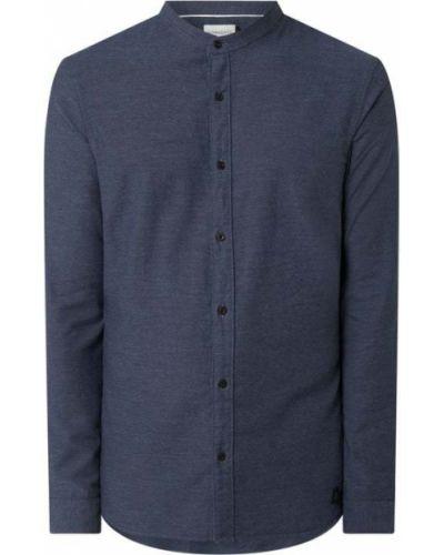 Niebieska koszula oxford bawełniana z długimi rękawami Nowadays