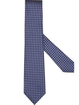 Синяя шелковая резинка для волос Ermenegildo Zegna