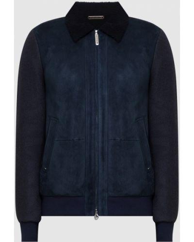 Замшевая куртка - синяя Stefano Ricci