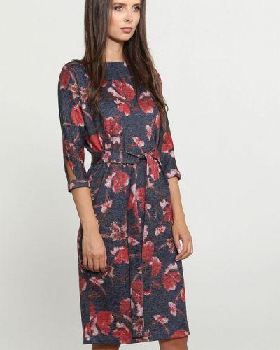 Платье осеннее синее Mari Vera