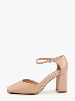 Бежевые кожаные монки Ideal Shoes®