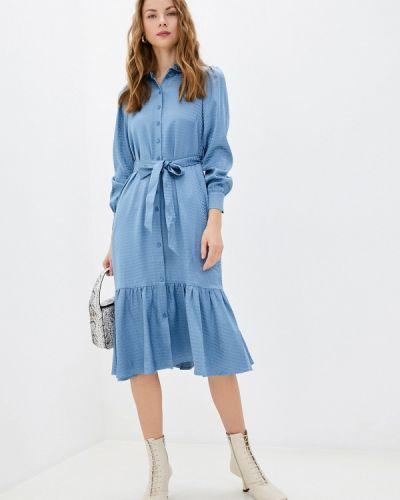 Синее платье-рубашка Akhmadullina Dreams