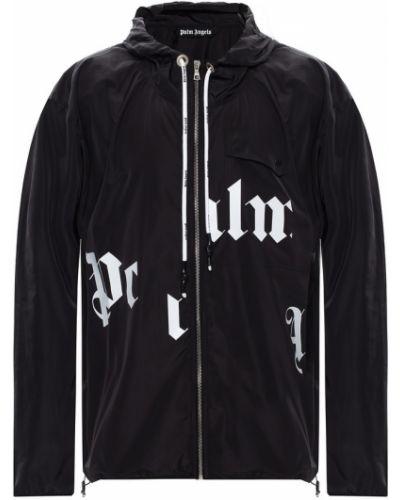 Czarna kurtka z printem Palm Angels
