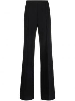 Черные с завышенной талией брюки с карманами Elisabetta Franchi