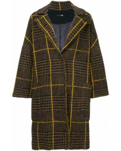 Однобортное длинное пальто с капюшоном на пуговицах Frei Ea