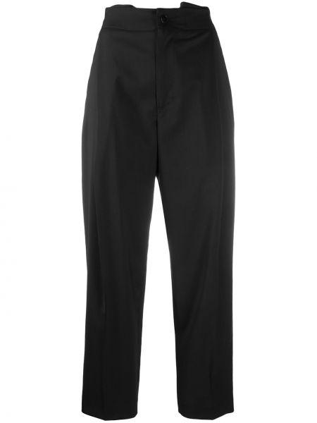 Черные укороченные брюки с карманами на молнии с высокой посадкой Barena