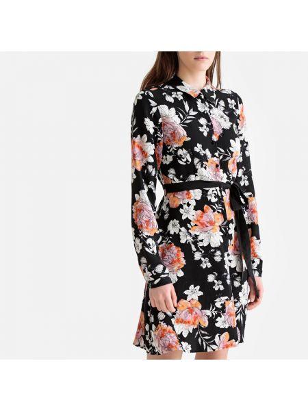 Платье мини с цветочным принтом с поясом Vero Moda