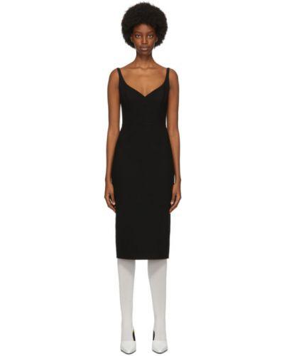 Шелковое черное платье без рукавов Marc Jacobs