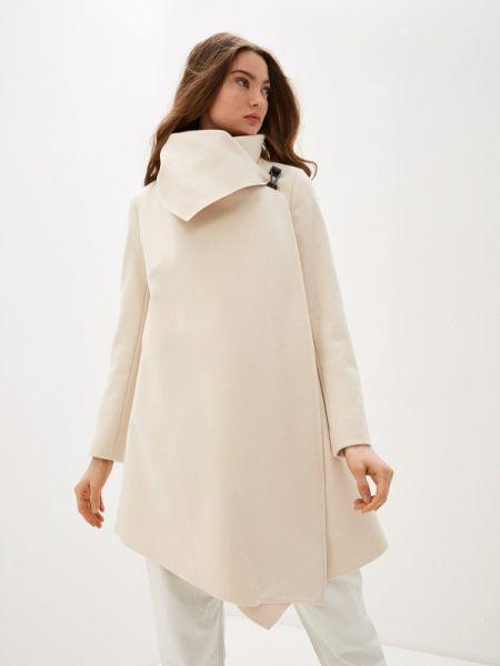 Бежевое пальто с капюшоном Allsaints