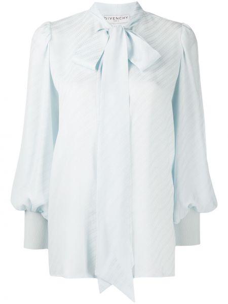 Z rękawami jedwab bluzka z mankietami z paskami Givenchy