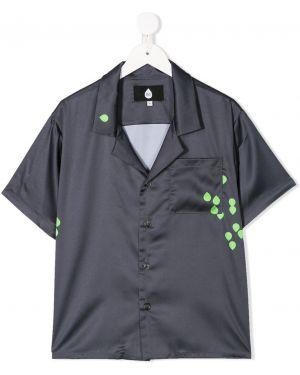 Классическая рубашка на пуговицах с карманами с короткими рукавами Natasha Zinko Kids