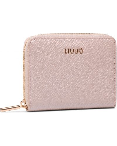 Beżowy złoty portfel oversize Liu Jo