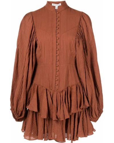 Коричневое платье с вырезом Shona Joy