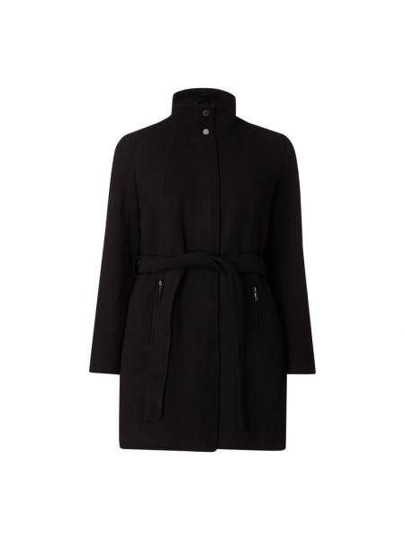 Czarny płaszcz wełniany Only Carmakoma