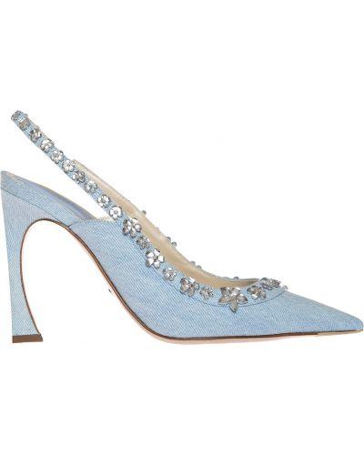 Кожаные босоножки - голубые Christian Dior