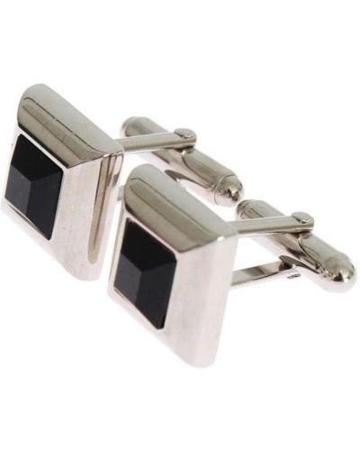 Czarne spinki do mankietów srebrne Dolce And Gabbana