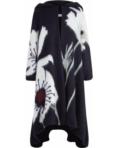 Пальто с капюшоном с вышивкой свободное Valentino
