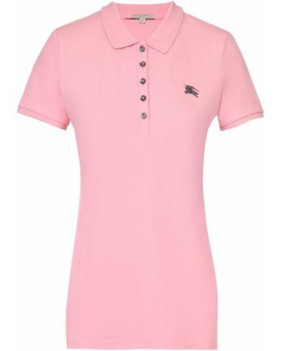 Поло с логотипом розовый Burberry