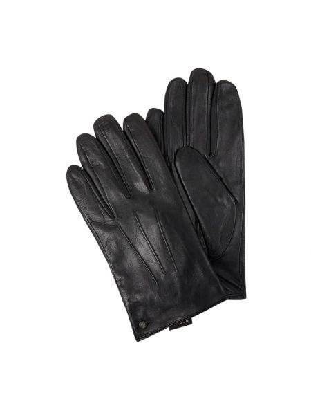 Czarne rękawiczki skorzane Roeckl
