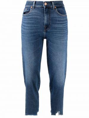Синие джинсы из полиэстера 7 For All Mankind