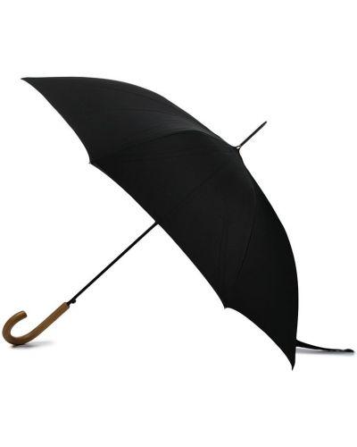 Czarny parasol z haftem Paul Smith