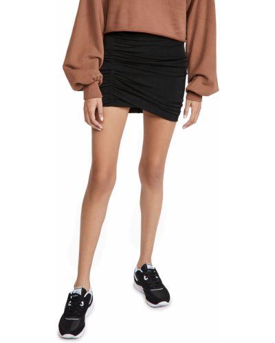 Трикотажная черная юбка на резинке Alix