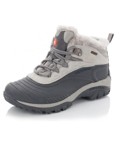 Кожаные ботинки трекинговые - серые Merrell