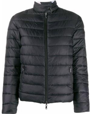 Стеганая куртка леопардовая с карманами Emporio Armani