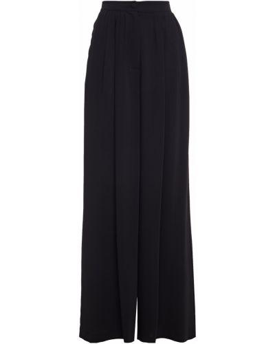Черные брюки с карманами свободного кроя Sara Battaglia