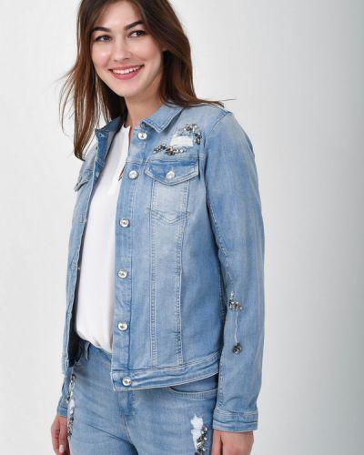 Хлопковый синий пиджак Monari