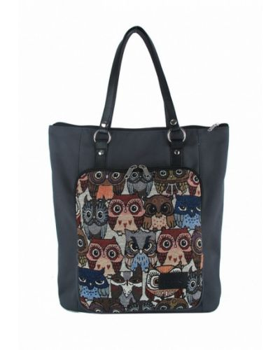 Черная сумка шоппер Exodus