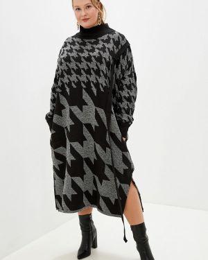 Платье серое платье-свитер Артесса