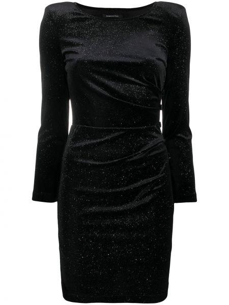 Черное платье мини с вырезом узкого кроя круглое Patrizia Pepe