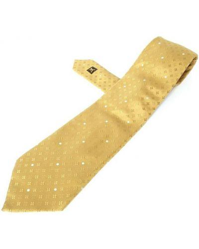 Żółty włoski krawat Louis Vuitton Vintage