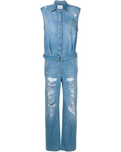 Синий джинсовый комбинезон Dondup