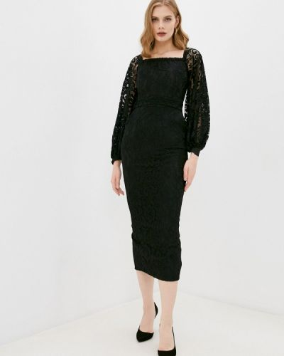 Брендовое черное вечернее платье Lipinskaya Brand