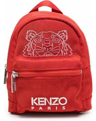 Biały plecak z haftem z nylonu Kenzo