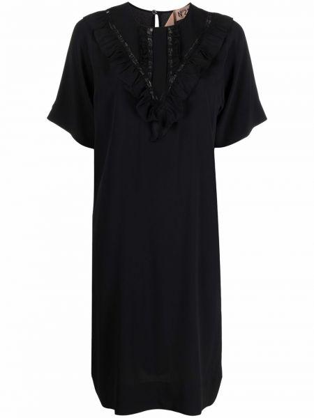 Шелковое платье мини - черное N°21